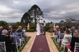 Montville marriage celebrant at Flaxton Gardens